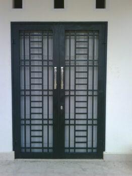 teralis pintu minimalis dua daun globaltukang